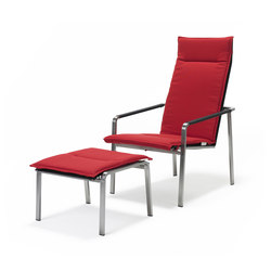 Jazz Deck Chair and Footstool | Garden armchairs | solpuri