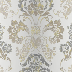 Alexandria Wallpaper | Kashgar - Steel | Wallcoverings | Designers Guild