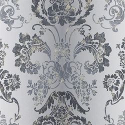 Alexandria Wallpaper | Kashgar - Graphite | Wallcoverings | Designers Guild