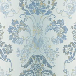 Alexandria Wallpaper | Kashgar - Zinc | Wallcoverings | Designers Guild