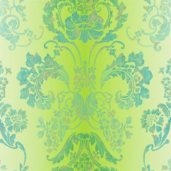Alexandria Wallpaper | Kashgar - Emerald | Wall coverings | Designers Guild