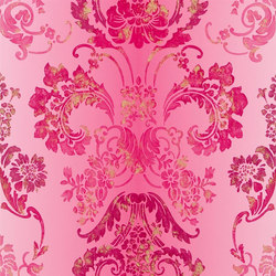 Alexandria Wallpaper | Kashgar - Fuchsia | Wall coverings | Designers Guild
