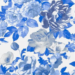Alexandria Wallpaper | Roseus - Cobalt | Wallcoverings | Designers Guild