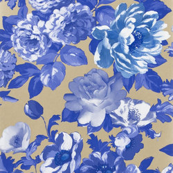 Alexandria Wallpaper | Roseus - Indigo | Wallcoverings | Designers Guild