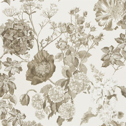 Alexandria Wallpaper | Alexandria - Sepia | Wallcoverings | Designers Guild