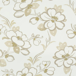 Amrapali Wallpaper | Lotus Flower - Oyster | Wall coverings | Designers Guild