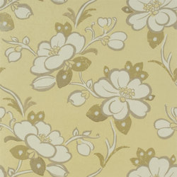 Amrapali Wallpaper | Lotus Flower - Gold | Wall coverings | Designers Guild