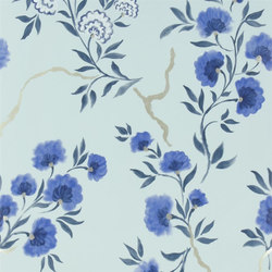 Amrapali Wallpaper | Jacaranda - Indigo | Wallcoverings | Designers Guild