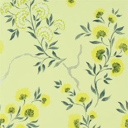 Amrapali Wallpaper | Jacaranda - Chartreuse | Wall coverings | Designers Guild