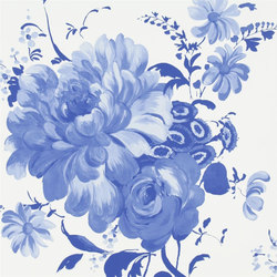 Amrapali Wallpaper | Mehsama - Cobalt | Wall coverings | Designers Guild