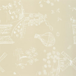 Around The World  Wallpaper | Meadowsweet - Ecru | Wandbeläge | Designers Guild