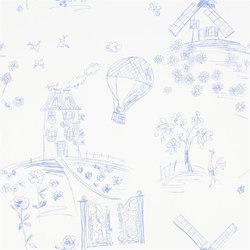 Around The World  Wallpaper | Meadowsweet - Cobalt | Carta da parati | Designers Guild
