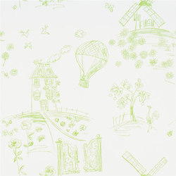 Around The World  Wallpaper | Meadowsweet - Lime | Wallcoverings | Designers Guild