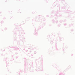 Around The World  Wallpaper | Meadowsweet - Peony | Wandbeläge | Designers Guild