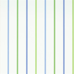 Around The World Wallpaper | Rainbow Stripe - Denim | Wall coverings | Designers Guild