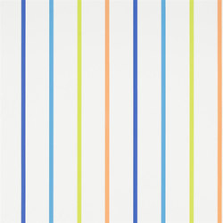 Around The World Wallpaper | Rainbow Stripe - Cobalt | Wall coverings | Designers Guild