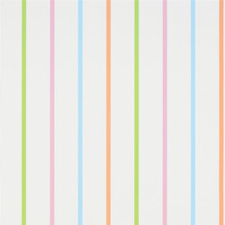 Around The World Wallpaper | Rainbow Stripe - Aqua | Wall coverings | Designers Guild