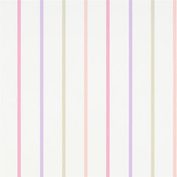 Around The World Wallpaper | Rainbow Stripe - Petal | Wall coverings | Designers Guild