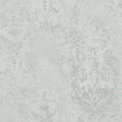 Boratti Wallpaper | Gessetto - Platinum | Carta da parati | Designers Guild