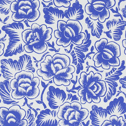 Brera Wallpaper   Rosario - Cobalt   Wandbeläge   Designers Guild