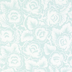 Brera Wallpaper | Rosario - Aqua | Papeles pintados | Designers Guild