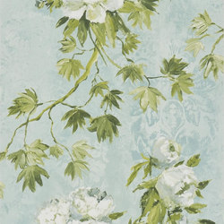 Caprifoglio  Wallpaper | Floreale - Celadon | Wall coverings / wallpapers | Designers Guild