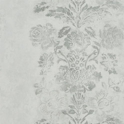 Caprifoglio  Wallpaper | Damasco - Silver | Wall coverings / wallpapers | Designers Guild