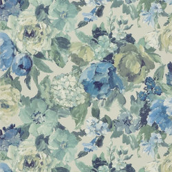 Caprifoglio  Wallpaper | Roseto - Indigo | Wandbeläge | Designers Guild