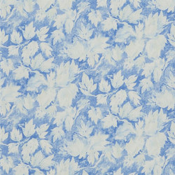 Caprifoglio  Wallpaper | Fresco Leaf - Indigo | Wallcoverings | Designers Guild