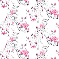 Kasuri  Wallpaper | Madame Butterfly - Peony | Wall coverings | Designers Guild