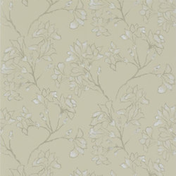 Kasuri  Wallpaper | Magnolia Tree - Linen | Wallcoverings | Designers Guild