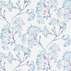 Kasuri  Wallpaper | Magnolia Tree - Turquoise | Wall coverings | Designers Guild