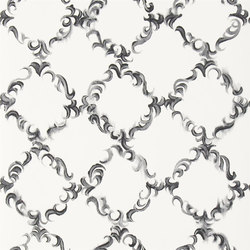 Kasuri Wallpaper | Kasuri - Black and White | Papiers peint | Designers Guild