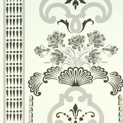 Linnaeus  Wallpaper | Bergius - Graphite | Wall coverings | Designers Guild