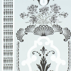 Linnaeus  Wallpaper | Bergius - Duck Egg | Wall coverings | Designers Guild