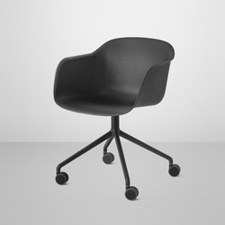 Fiber Armchair | swivel base with wheels | Arbeitsdrehstühle | Muuto