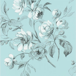 Nabucco Wallpaper | Watelet - Turquoise | Wall coverings / wallpapers | Designers Guild