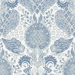 Air De Paris Wallpaper | Marseille - Denim | Carta da parati | Designers Guild