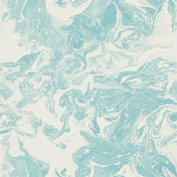 Belles Rives Wallpaper | Bain De Minuit - Piscine | Wall coverings / wallpapers | Designers Guild