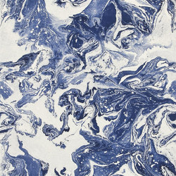 Belles Rives Wallpaper | Bain De Minuit - Mediterranee | Wall coverings | Designers Guild