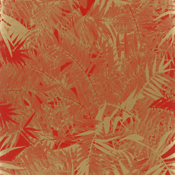 Belles Rives Wallpaper | Eden Roc - Scarlet | Papeles pintados | Designers Guild