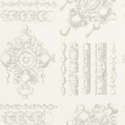 Belles Rives Wallpaper | La Main Au Collet - Tourterelle | Carta da parati | Designers Guild