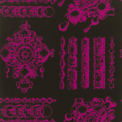 Belles Rives Wallpaper | La Main Au Collet - Lipstick | Carta da parati | Designers Guild