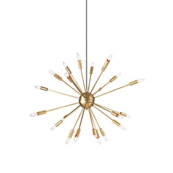Satellite Chandelier in Brass | Iluminación general | Design Within Reach