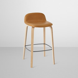 Visu Bar Stool | leather low | Bar stools | Muuto