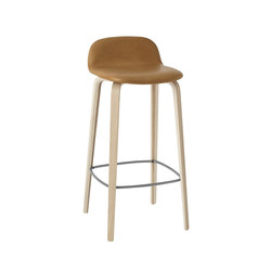 Visu Bar Stool | leather high | Bar stools | Muuto