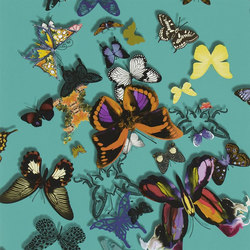 Carnets Andalous Wallpaper | Butterfly Parade - Lagon | Carta da parati | Designers Guild
