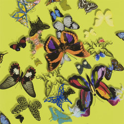 Carnets Andalous Wallpaper | Butterfly Parade - Safran | Wall coverings | Designers Guild