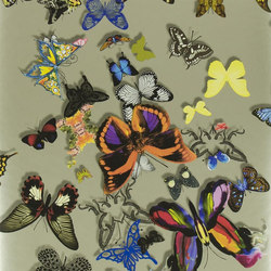 Carnets Andalous Wallpaper | Butterfly Parade - Platine | Wall coverings | Designers Guild