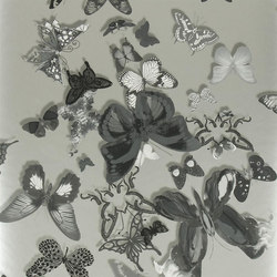Carnets Andalous Wallpaper | Butterfly Parade - Zinc | Wallcoverings | Designers Guild